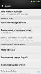 HTC One Mini - Messagerie vocale - configuration manuelle - Étape 6