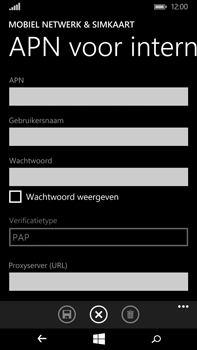 Microsoft Lumia 640 XL - Internet - Handmatig instellen - Stap 8