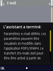 Nokia N86 - E-mail - Configuration manuelle - Étape 17