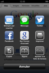 Apple iPhone 4 S - iOS 6 - Internet - navigation sur Internet - Étape 5