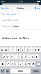 Apple iPhone 5c (iOS 8) - e-mail - hoe te versturen - stap 7