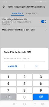 Huawei P30 - Sécurité - modifier SIM PIN - Étape 9