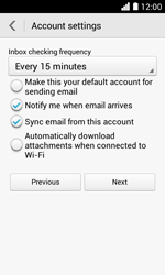 Huawei Ascend Y330 - Email - Manual configuration - Step 19