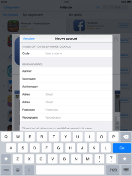 Apple iPad 2 met iOS 8 - Applicaties - Account aanmaken - Stap 21