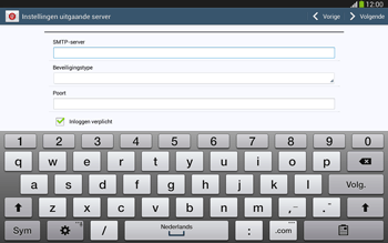 Samsung P5220 Galaxy Tab 3 10-1 LTE - E-mail - Handmatig instellen - Stap 13