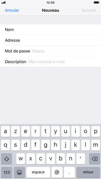 Apple iPhone 7 Plus - iOS 12 - E-mail - Configuration manuelle - Étape 8