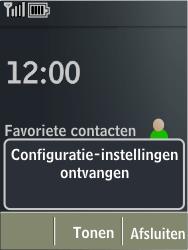 Nokia X3-02 - MMS - automatisch instellen - Stap 5