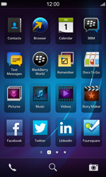 BlackBerry Z10 - SMS - Manual configuration - Step 2