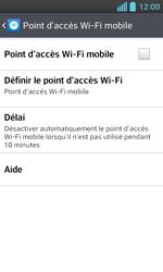 LG Optimus L5 II - Internet et connexion - Partager votre connexion en Wi-Fi - Étape 6