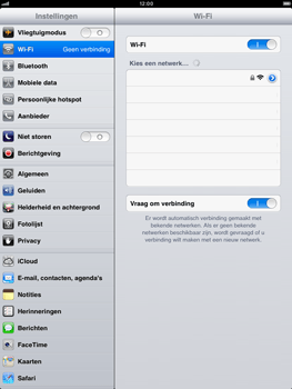 Apple iPad mini - WiFi - Handmatig instellen - Stap 5