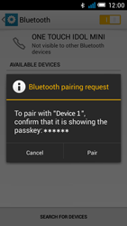 Alcatel OT-6012X Idol Mini - Bluetooth - Pair with another device - Step 7