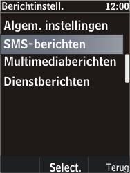 Nokia C2-05 - SMS - Handmatig instellen - Stap 6
