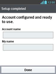 LG E430 Optimus L3 II - Email - Manual configuration POP3 with SMTP verification - Step 22