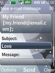 Nokia 7210 supernova - E-mail - Sending emails - Step 8