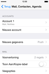 Apple iPhone 4s iOS 8 - E-mail - Account instellen (IMAP zonder SMTP-verificatie) - Stap 16