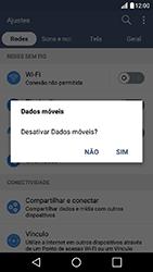 LG K10 - Rede móvel - Como ativar e desativar uma rede de dados - Etapa 5