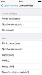 Apple iPhone 5s - Mensajería - Configurar el equipo para mensajes multimedia - Paso 6
