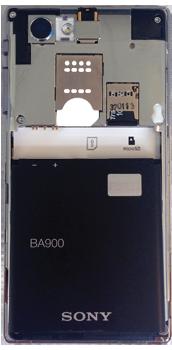 Sony Xperia J - Primeros pasos - Quitar y colocar la batería - Paso 6