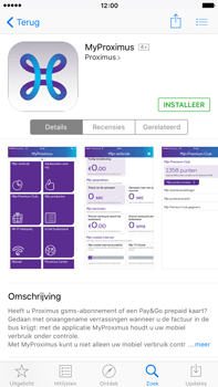 Apple iPhone 6 Plus iOS 9 - Applicaties - MyProximus - Stap 8