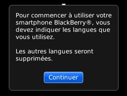 BlackBerry curve 3G - Premiers pas - Créer un compte - Étape 3
