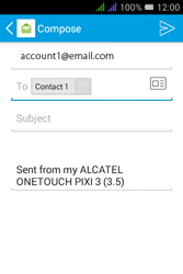 Alcatel Pixi 3 - 3.5 - Email - Sending an email message - Step 8