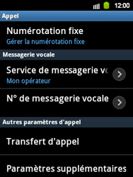 Samsung S5360 Galaxy Y - Messagerie vocale - Configuration manuelle - Étape 5