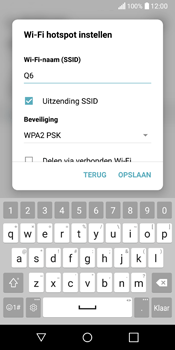LG Q6 (LG M700n) - WiFi - Mobiele hotspot instellen - Stap 6