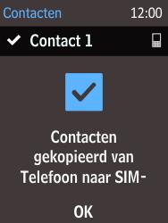Nokia 216 - Contacten en data - Contacten kopiëren van toestel naar SIM - Stap 11