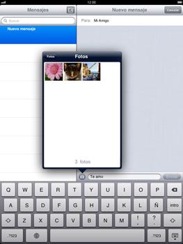 Apple iPad 2 - Mensajería - Escribir y enviar un mensaje multimedia - Paso 10