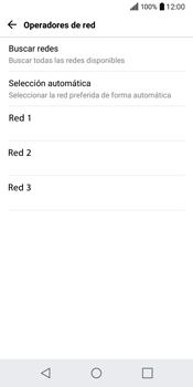 LG Q6 - Red - Seleccionar una red - Paso 8
