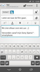 Sony Xperia E4g (E2003) - E-mail - Bericht met attachment versturen - Stap 10