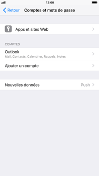 Apple iPhone 7 Plus iOS 11 - E-mail - Configuration manuelle (outlook) - Étape 10