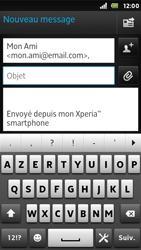 Sony ST25i Xperia U - E-mail - envoyer un e-mail - Étape 6