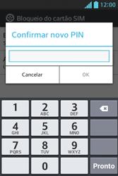 LG Optimus L5 - Segurança - Como trocar o código PIN do seu celular - Etapa 11