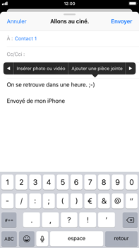 Apple iPhone 8 Plus - iOS 12 - E-mail - Envoi d