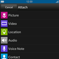 BlackBerry Q10 - MMS - Sending pictures - Step 9