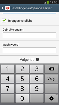 Samsung N9005 Galaxy Note III LTE - E-mail - Account instellen (IMAP met SMTP-verificatie) - Stap 13