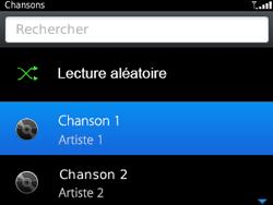 BlackBerry 9320 - Photos, vidéos, musique - Ecouter de la musique - Étape 6
