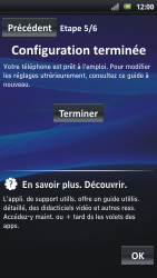 Sony Ericsson Xpéria Arc - Premiers pas - Créer un compte - Étape 29