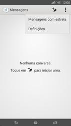 Sony Xperia E4 - SMS - Como configurar o centro de mensagens -  5