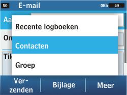 Samsung C3500 Chat 350 - E-mail - e-mail versturen - Stap 5