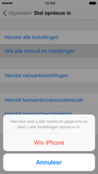 Apple iPhone 5s iOS 9 - Toestel - Fabrieksinstellingen terugzetten - Stap 7