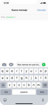 Apple iPhone X - Mensajería - Escribir y enviar un mensaje multimedia - Paso 9