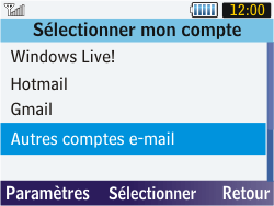 Samsung S3570 Chat 357 - E-mail - Configuration manuelle - Étape 5