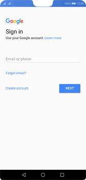 Huawei P20 - Applications - Create an account - Step 3