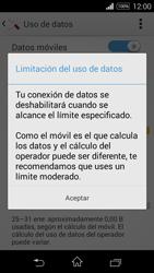 Sony D2203 Xperia E3 - Internet - Ver uso de datos - Paso 9
