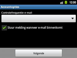 Samsung B5510 Galaxy TXT - E-mail - Handmatig instellen - Stap 12