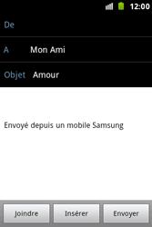 Samsung S7500 Galaxy Ace Plus - E-mail - Envoi d