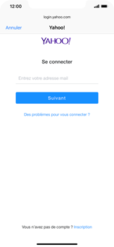 Apple iPhone XR - E-mail - 032b. Email wizard - Yahoo - Étape 6
