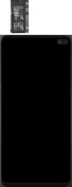 Samsung Galaxy S10 Plus - Appareil - comment insérer une carte SIM - Étape 3